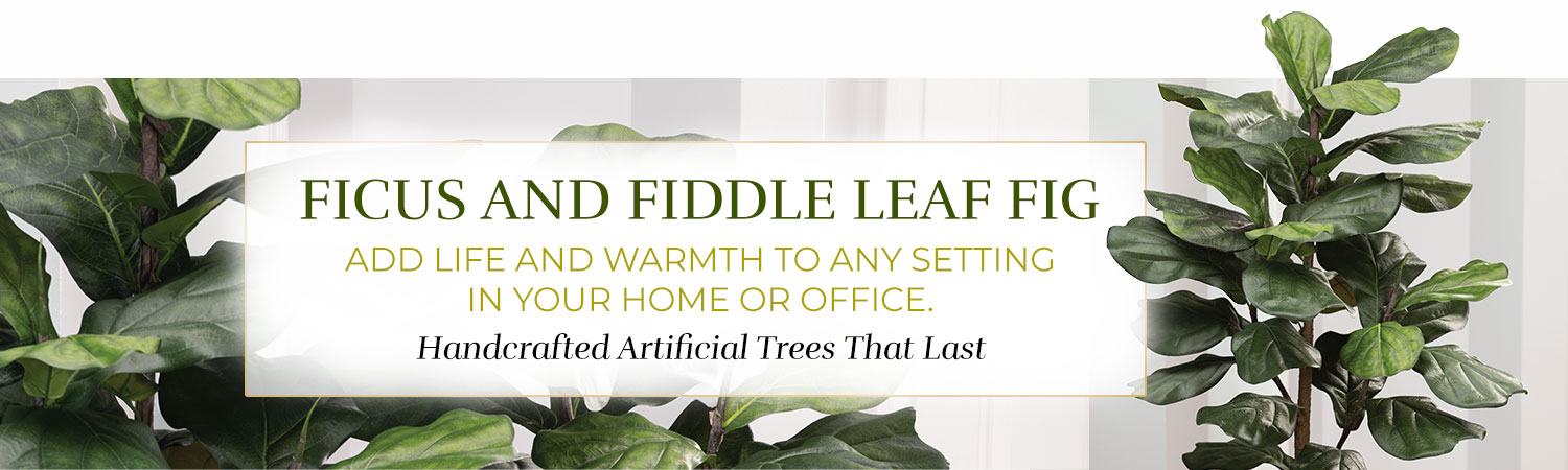 Silk & Artificial Ficus and Fiddle Leaf Fig Trees