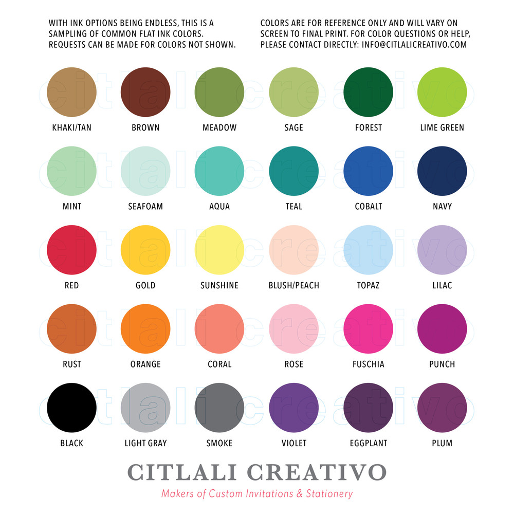 ink color ideas