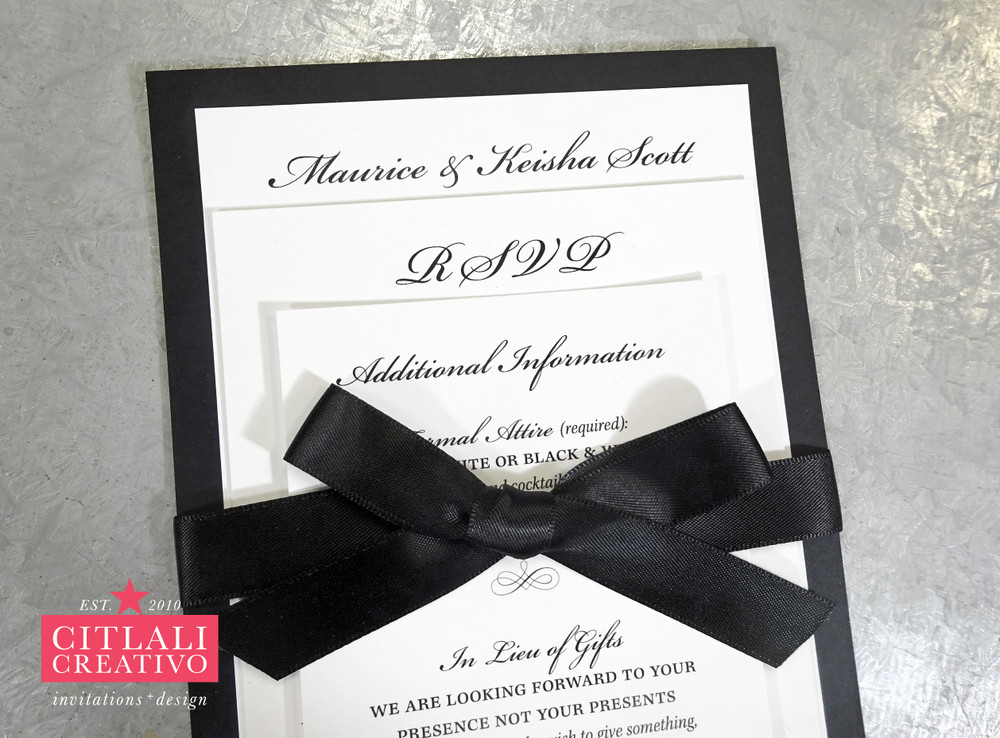 Black & White 20th Anniversary Tuxedo Wedding Celebration