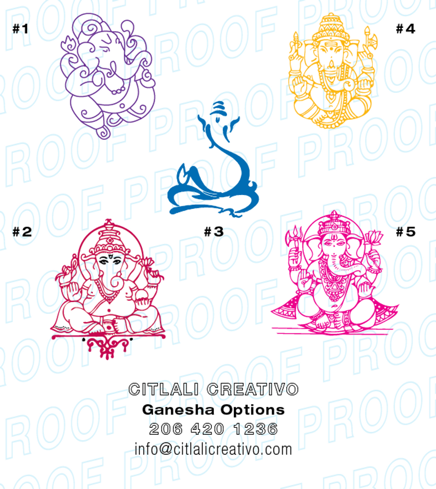 Citlali Creativo Ganesha Options for use on any of our designs