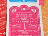 Colorful Papel Picado Kids Birthday Invitation - 4 colors