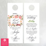 Floral Roses Frame in Blush Pinks - Shhh Do Not Disturb Door Hangers