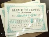 Vintage Flourish Calendar Style Wedding Save the Dates