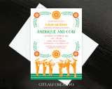 Mariachi Fiesta Wedding Rehearsal Dinner Invitations