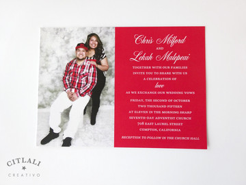 Celebration of Love Photo Block Wedding Invitations