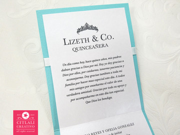 Tiffany Bag Quinceañera Birthday Invitations