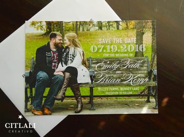 Elegant Script Photo Wedding Save the Dates