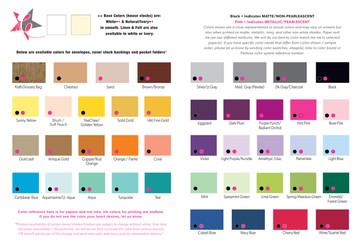 Pocket folder color options