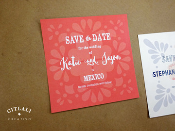 Talavera Spanish Tile Wedding Save the Date Announcement