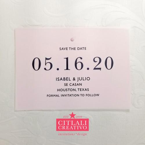 Vellum Transparent Modern Save the Dates