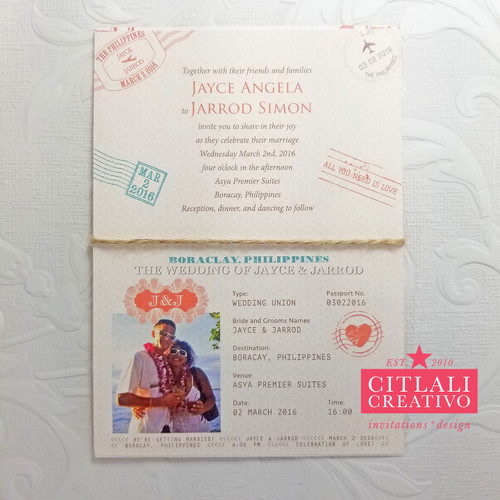 Passport Booklet Multi-page Wedding Invitations