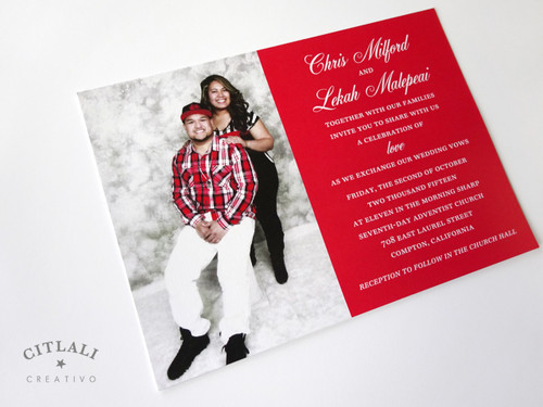 Celebration of Love Photo Wedding Invitations