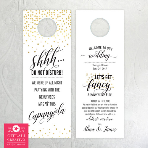 These are customizable in your chosen paper(s) and wording.