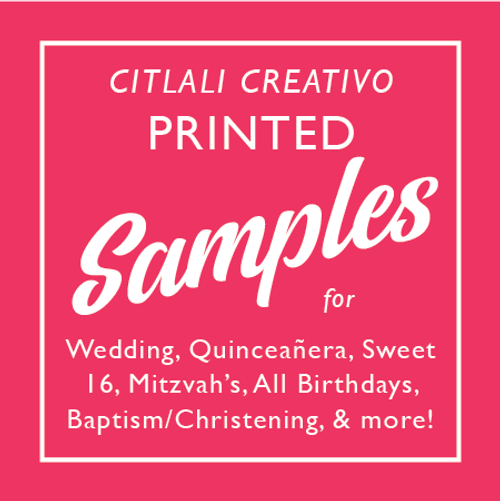 Citlali Creativo Invitations Sample Set
