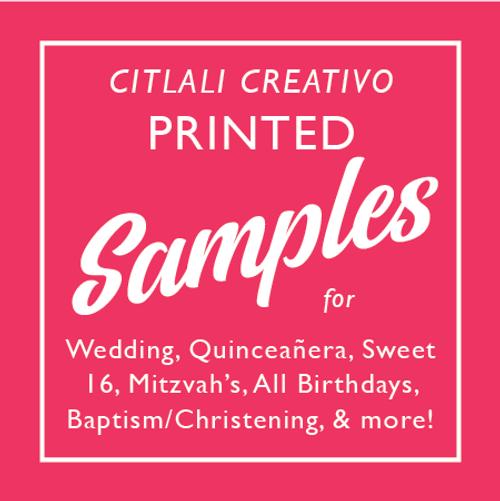 Citlali Creativo Invitations Sample Set