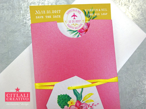 Tropical Sleeve Wedding Invitations