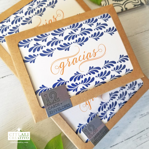 Talavera Spanish Tile Inspired Thank You cards + envelopes