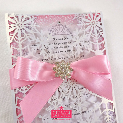 Snowflake Winter Wonderland XV Laser Cut Invitations