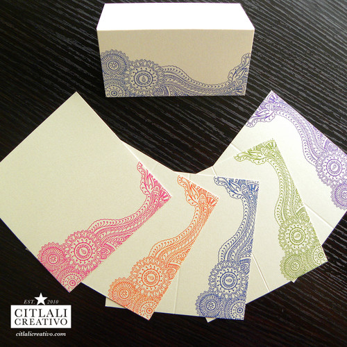 Paisley Henna Tent Place Cards