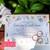 Watercolor Flowers Pocket Wedding Invitations + Silver Pocket Folder