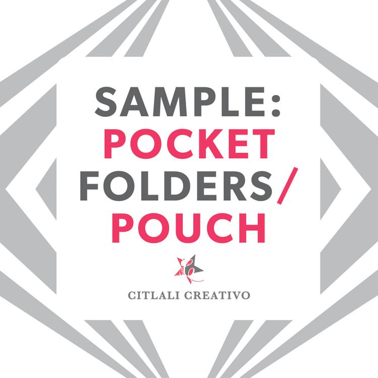 Pocket Folder Material Sample Only