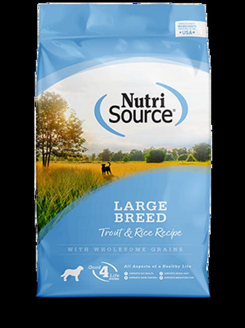 NutriSource Trout & Rice Large Breed Formula 30lb