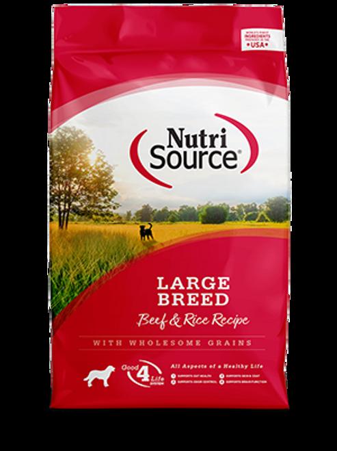 NutriSource Beef & Rice Large Breed Formula 30lb