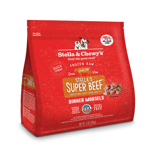 Stella & Chewy's Super Beef Canine Frozen Dinner Morsels 4lb