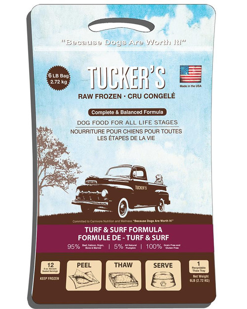 Tucker's Raw Frozen Surf & Turf Formula