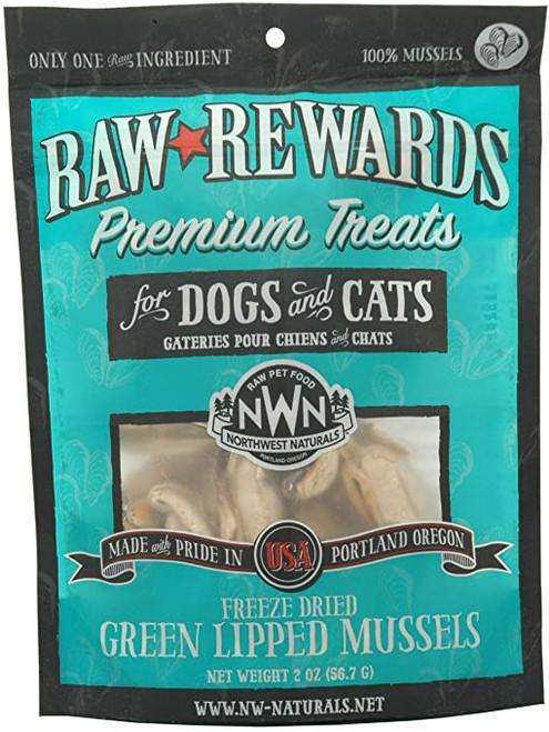 Northwest Naturals Raw Rewards Freeze Dried Green Lipped Mussels 2oz