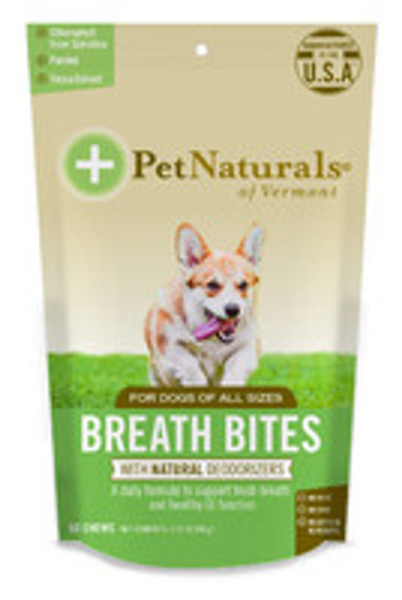 Pet Naturals of Vermont Breath Bites for Dogs 60 Ct.