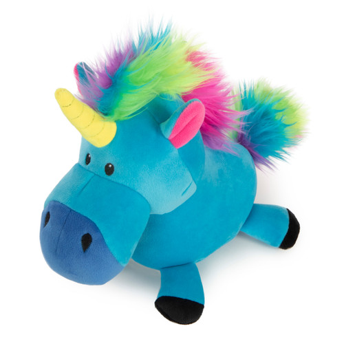Quaker Pet GoDog Unicorn Blue Lrg
