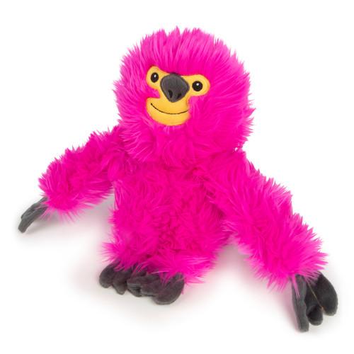 WorldWise GoDog Fuzzy Sloth Pink LG