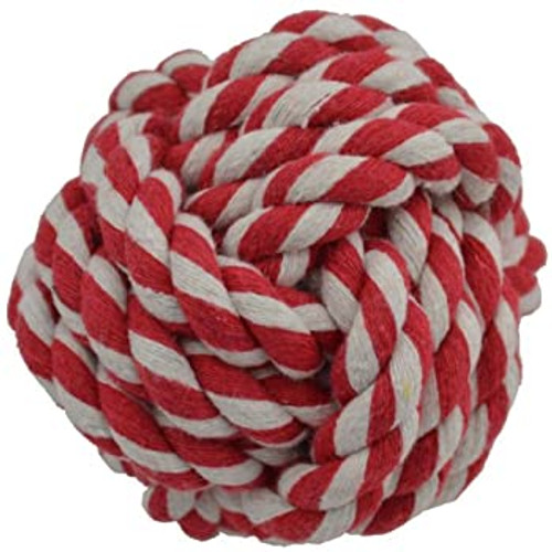 Amazing Pet Products Rope Ball Red
