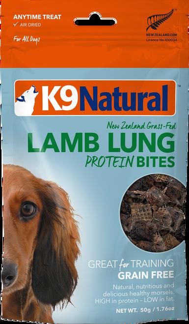 K9 Natural Lamb Lung Protein Bites 2oz