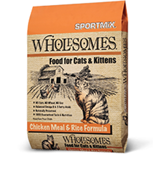 Sportmix Wholesome Chicken & Rice Cat Food 15lb