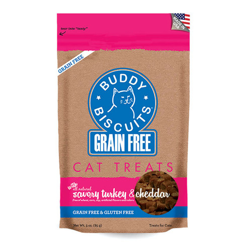 Buddy Biscuits Soft & Chewy GF Savory Turkey & Cheddar Flavor 3oz