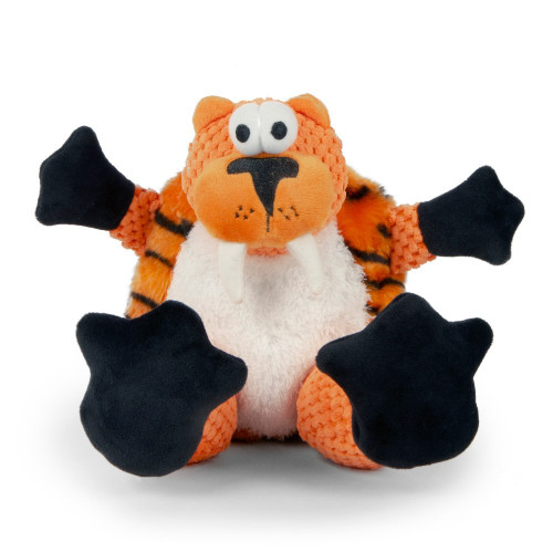 WorldWise GoDog Checkers Sitting Tiger LG