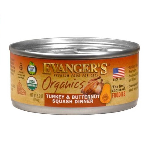 Evanger's Organics Turkey & Butternut Squash Dinner