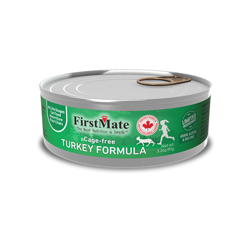 FirstMate Cage-Free Turkey Limited Ingredient Cat Formula 3oz