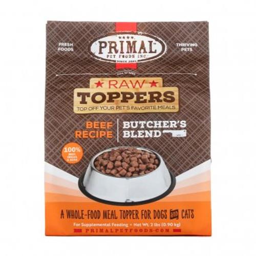 Primal Raw Frozen Butchers Blend Topper Beef Recipe 2lb