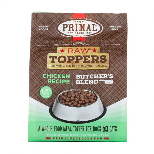 Primal Raw Frozen Butchers Blend Topper Chicken Recipe 2lb