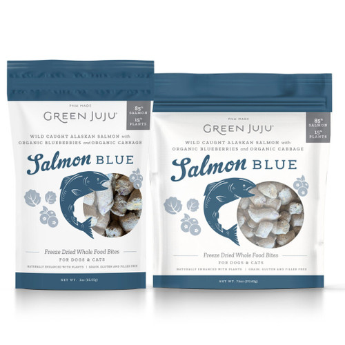 Green Juju Freeze Dried Salmon Blue 3oz