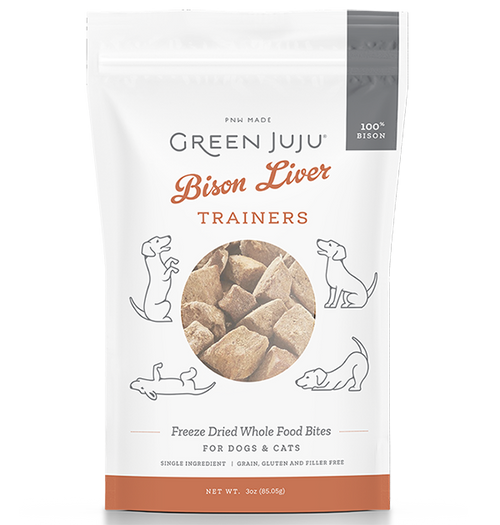 Green Juju Freeze Dried Bison Liver Trainers 3oz