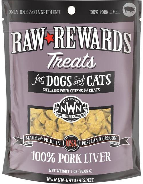Northwest Naturals Raw Rewards Freeze Dried Pork Liver 3oz