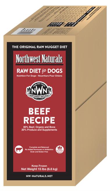 Northwest Naturals Frozen Raw Dog Food Beef Recipe Nuggets 15lb