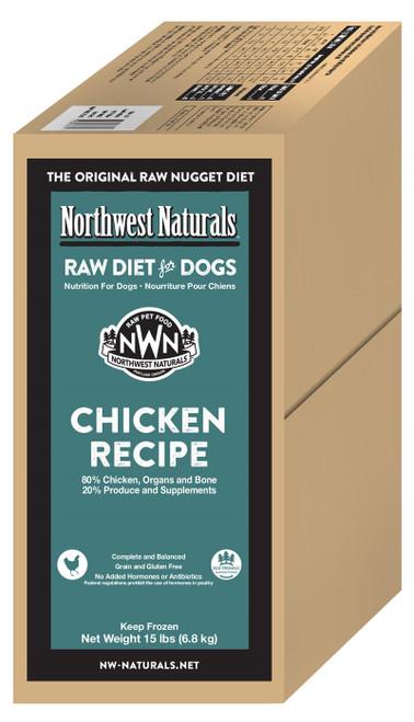 Northwest Naturals Frozen Raw Dog Food Chicken Recipe Nuggets 15lb