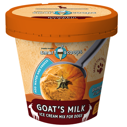 Puppy Scoops Smart Scoops Goat's Milk Ice Cream Mix Pumpkin
