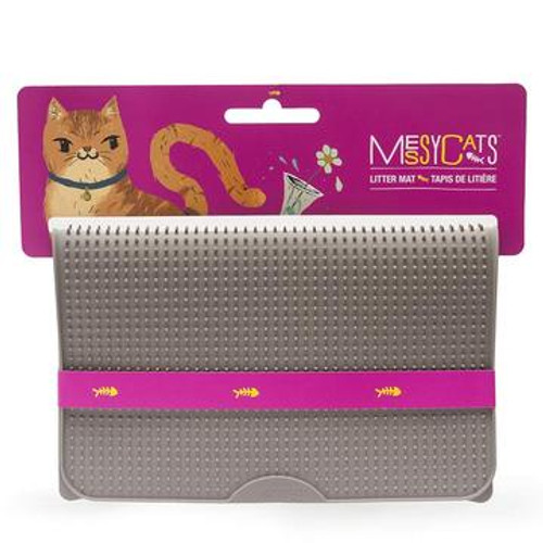 Messy Mutts Cat Litter Mat Grey