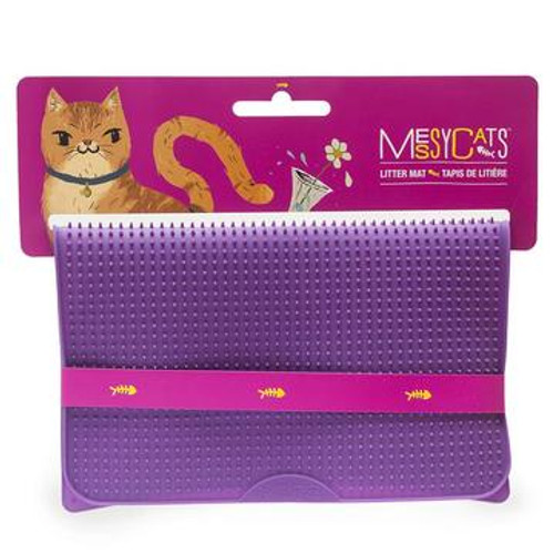 Messy Mutts Cat Litter Mat Purple